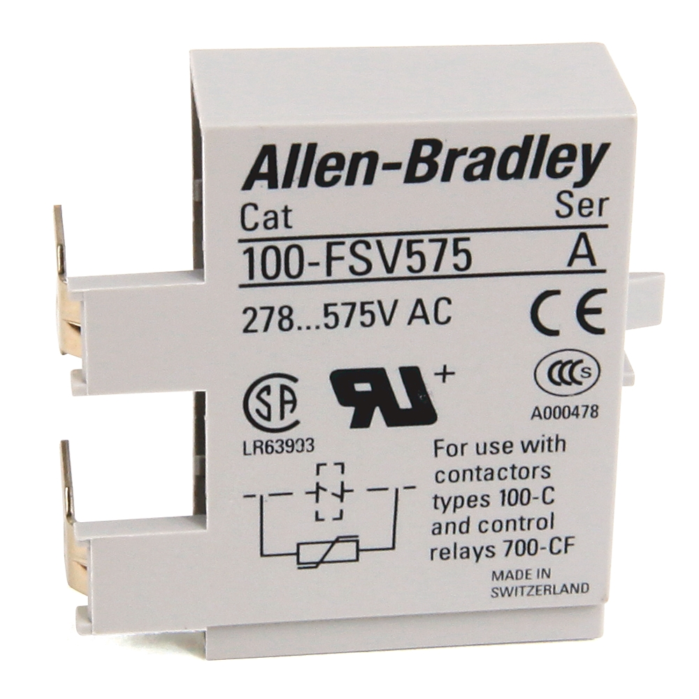 Rockwell Automation Revere Electric Bulletin 500 Nema Top Wiring Contactors For Motor Loads Allen Bradley 100 Fsc48 100c 48v Ac Rc Surge Suppressor