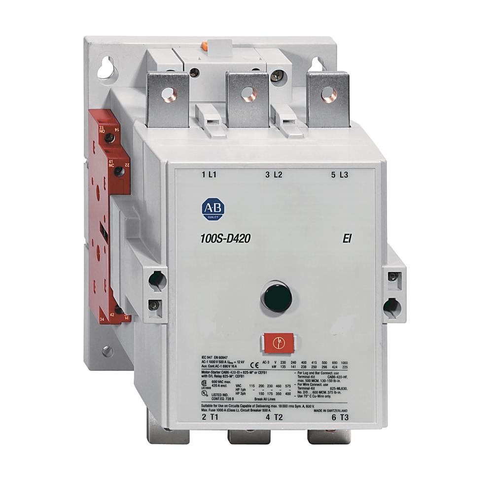 Allen-Bradley 100S-D250EA22BC MCS 100-D Contactor, IEC, 250 A, 208-277V 50/60Hz / 200-255V DC (w/Elec. Coil)