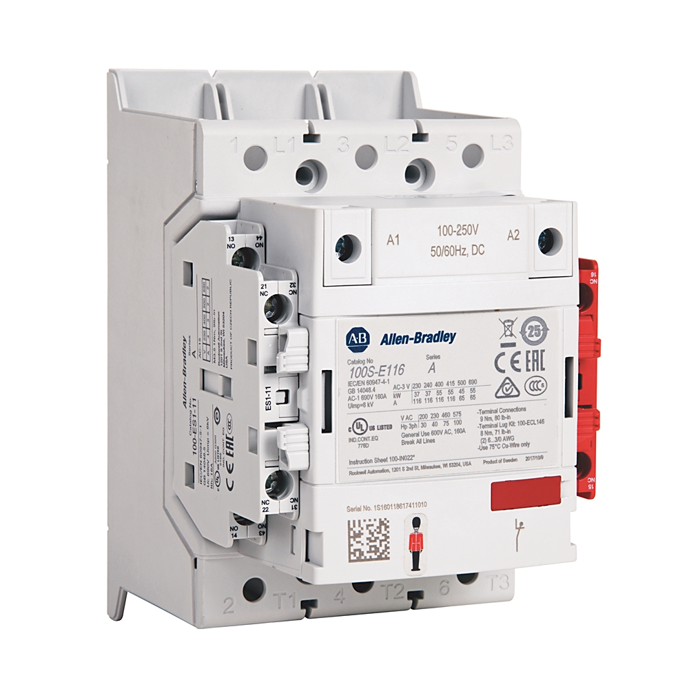 Controls Industrial And Motor Nema Contactors Kendall Ge Contactor Wiring 460v 3 Phase 100s E190kj12c Ab Iec 190 A Safety