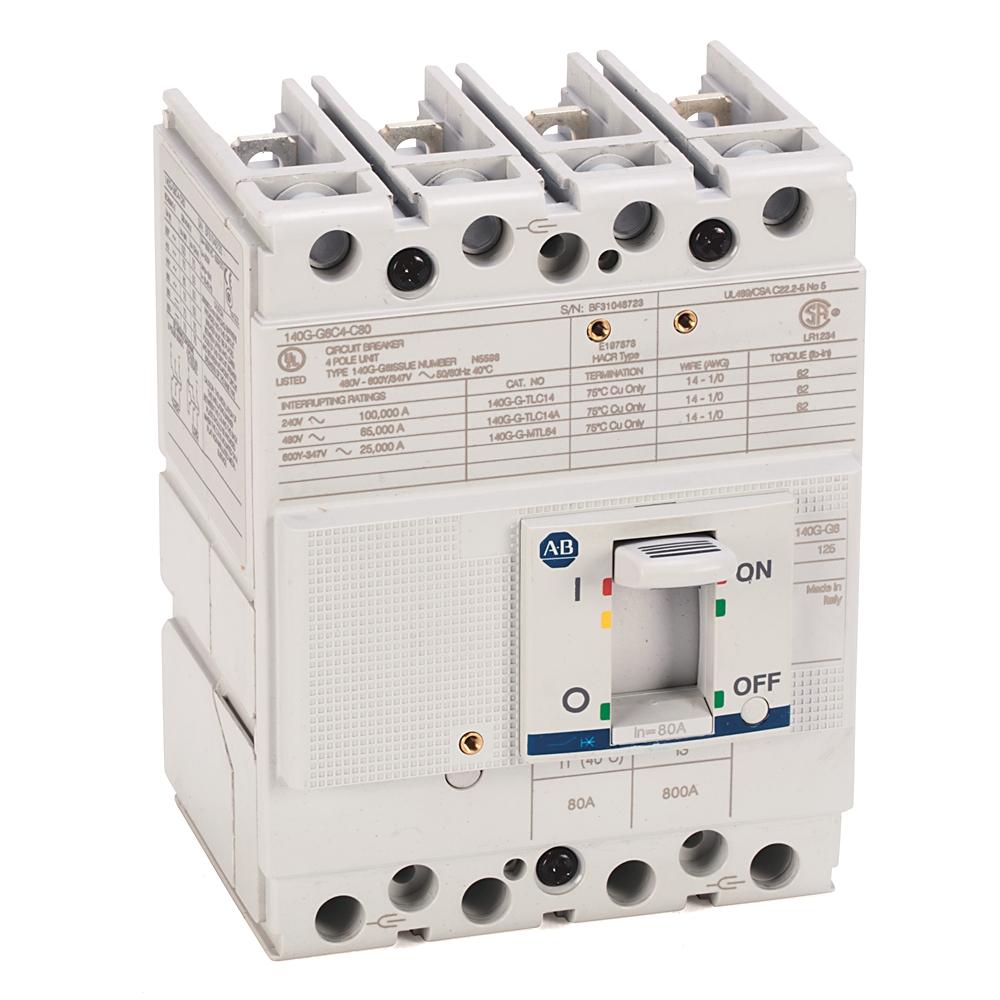 A-B 140G-G6C4-C60 140G 125A Frame Molded Case Ckt-Bkr