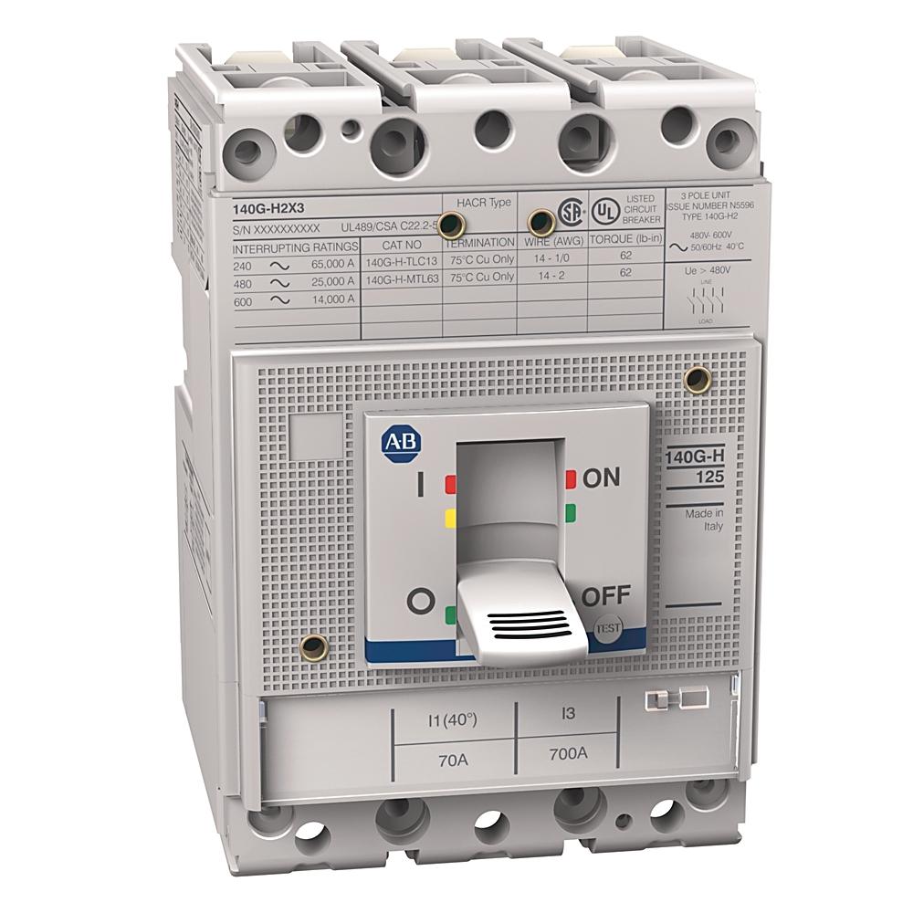 A-B 140G-H2C3-C70 140G 125A H Frame Molded Case Ckt-Bkr