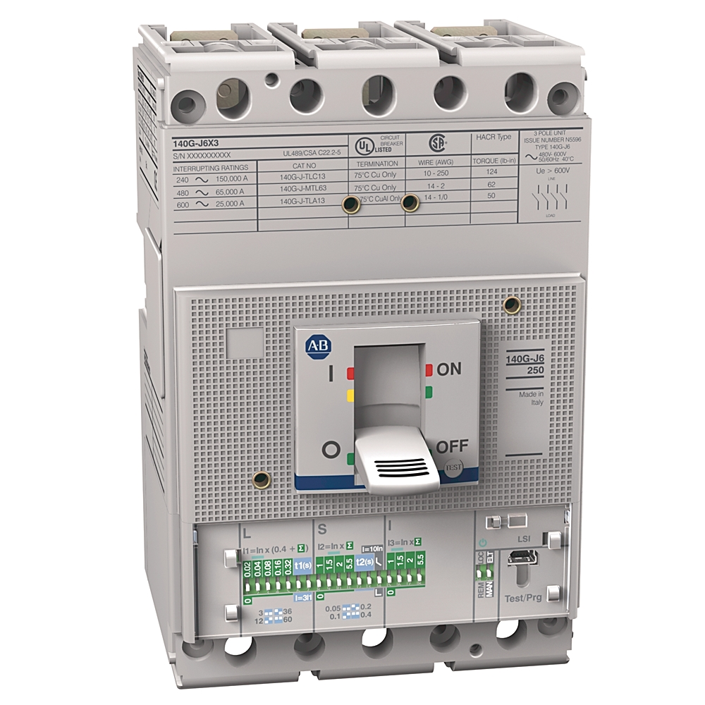 A-B 140G-J6H3-D15 140G 250A J Frame Molded Case Ckt-Bkr