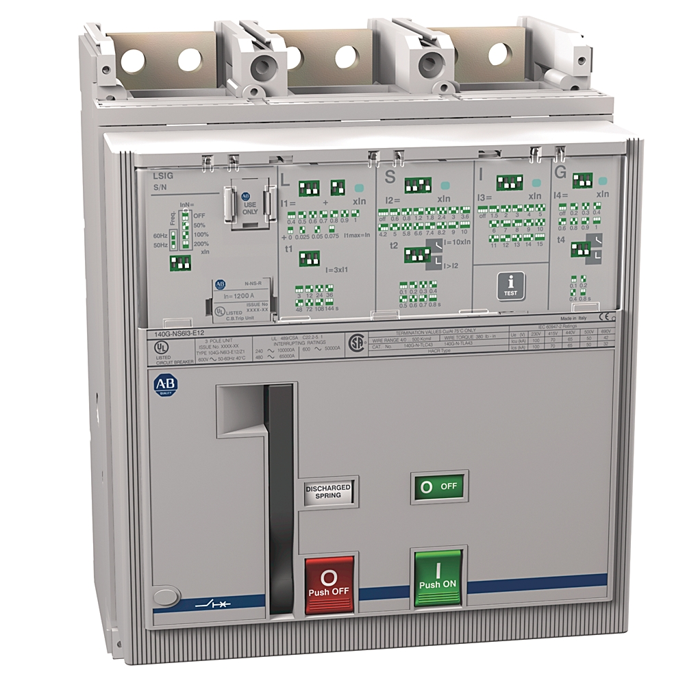 Rockwell Automation Revere Electric Bulletin 500f Nema Feedthrough Wiring Contactors For Motor Loads Allen Bradley 140g Ns6i3 E12 1200a Frame Molded Case Ckt Bkr