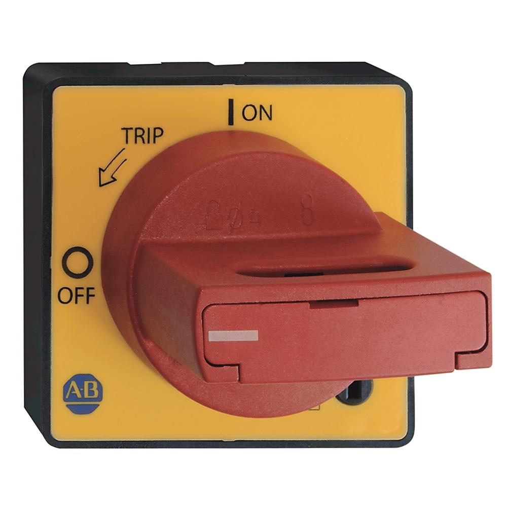 A-B 140M-C-DRY66 Door Coupling Handle - Red Yellow