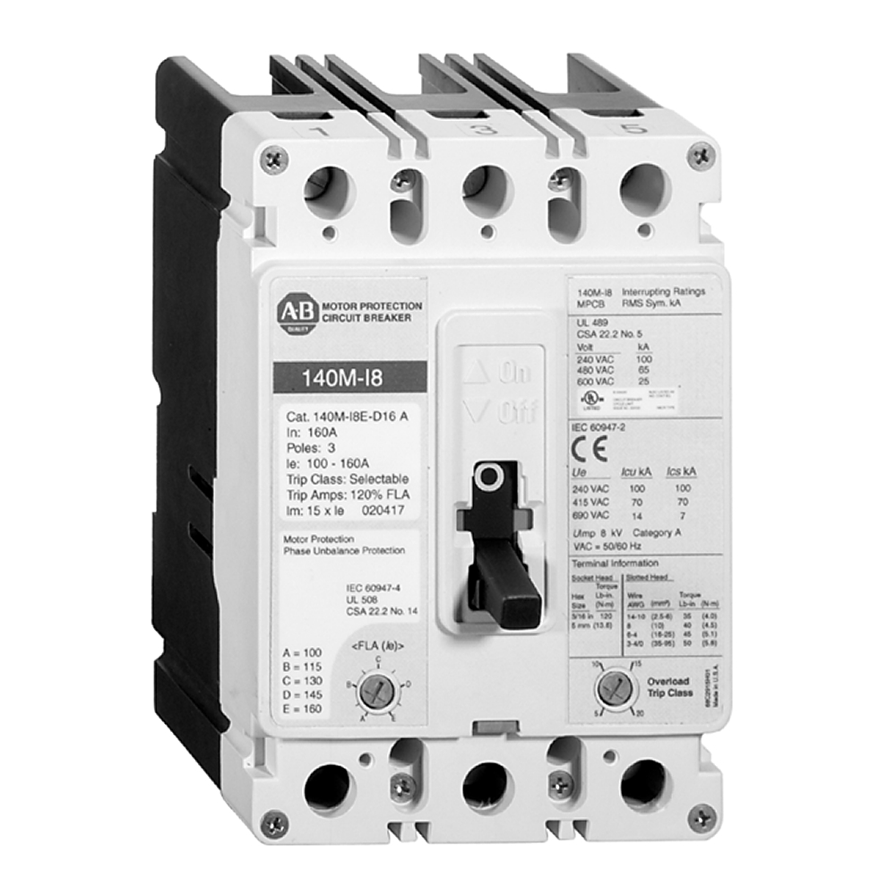 Iec Lg Motor Protect Cb 100 250a Allen Bradley 140m I8p B70 Electric Circuit Breakermotor Breaker Product On