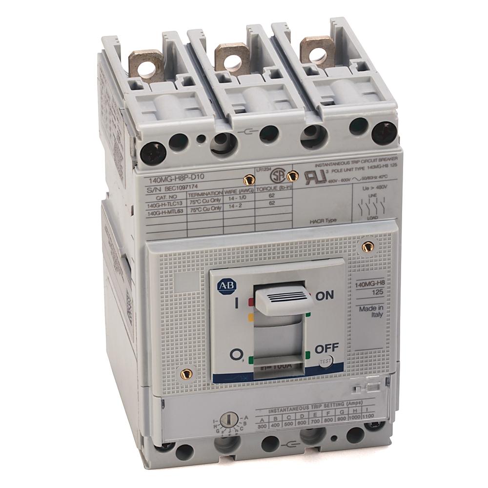 A-B 140MG-H8P-D10-AJ 140MG 100A H Frame Motor Ckt Protector