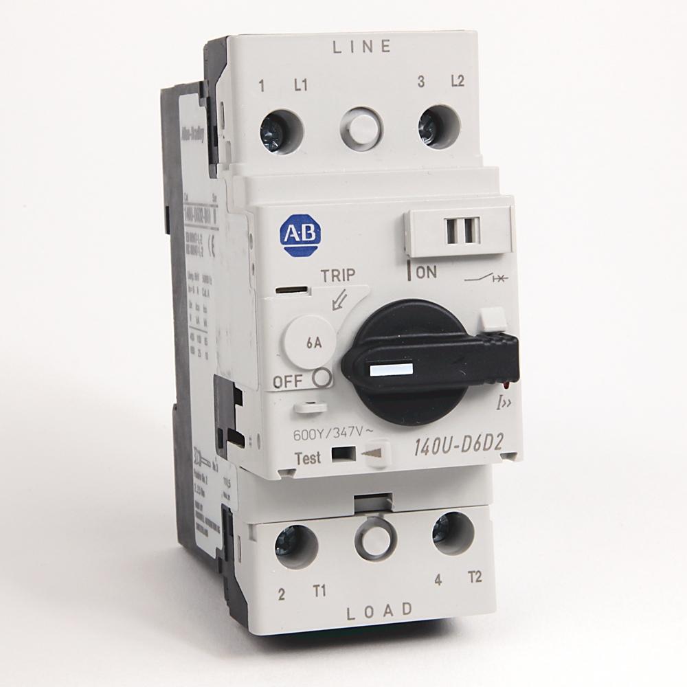 A-B 140U-D6D2-B60 Circuit Breaker 2-Pole 6 A UL 489