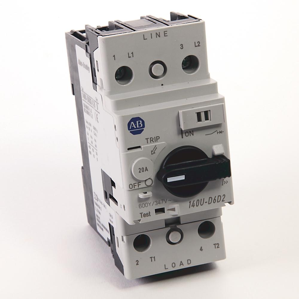 A-B 140U-D6D2-C20 Circuit Breaker 2-Pole 20 A UL 489