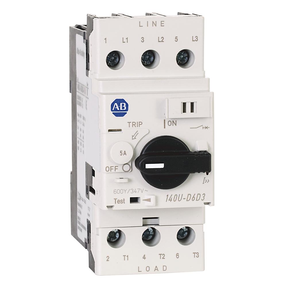 A-B 140U-D6D3-B50 Circuit Breaker 3-Pole 5 A UL 489