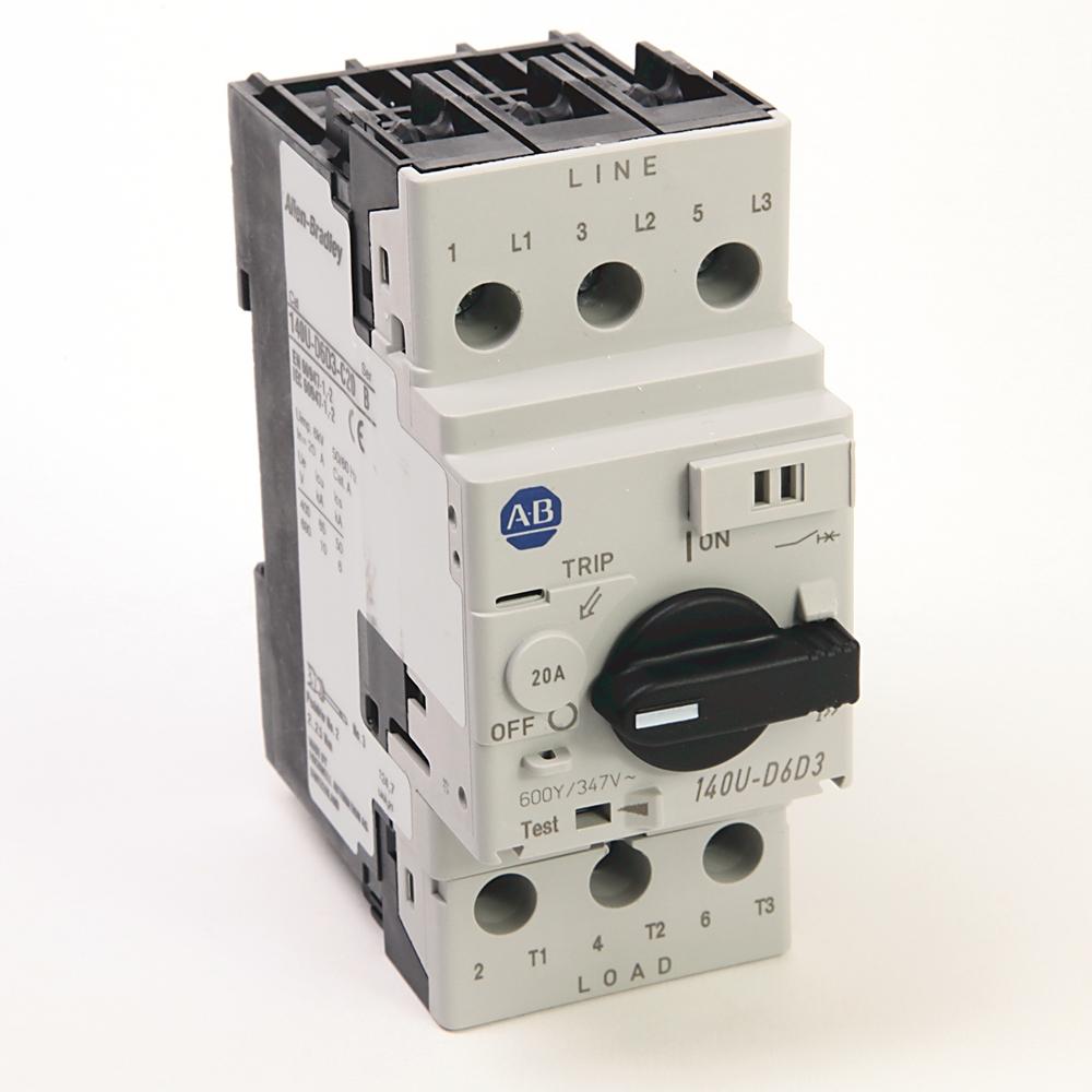 A-B 140U-D6D3-C20 Circuit Breaker 3-Pole 20 A UL 489