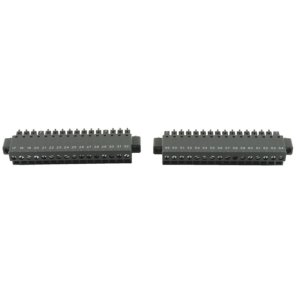 AB 1444-TBA-RPC-SCW-01 PlugConnector set Removeable ScrewClamp Includes Top and Bottom sideconnectors