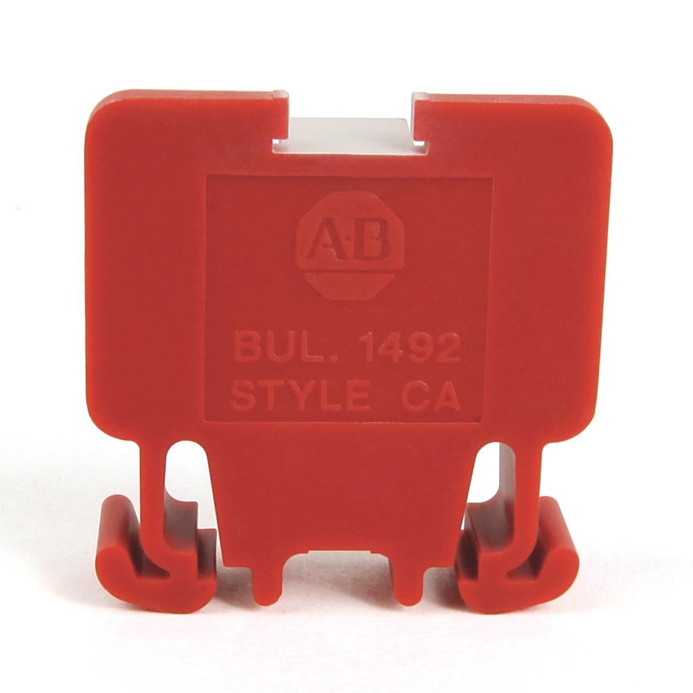 A-B 1492-CA1RE Term Block Rail MTD 1P 55A RED