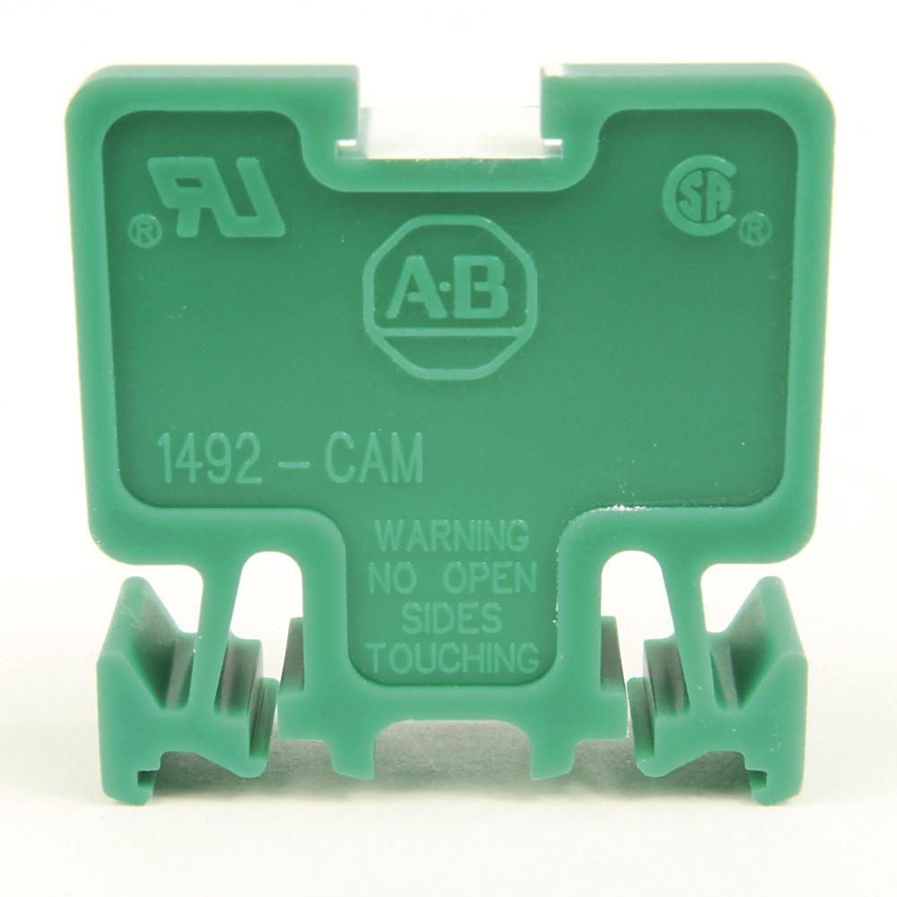 A-B 1492-CAM1G Term Block MULTI-Rail MTD 1P 55A GRN