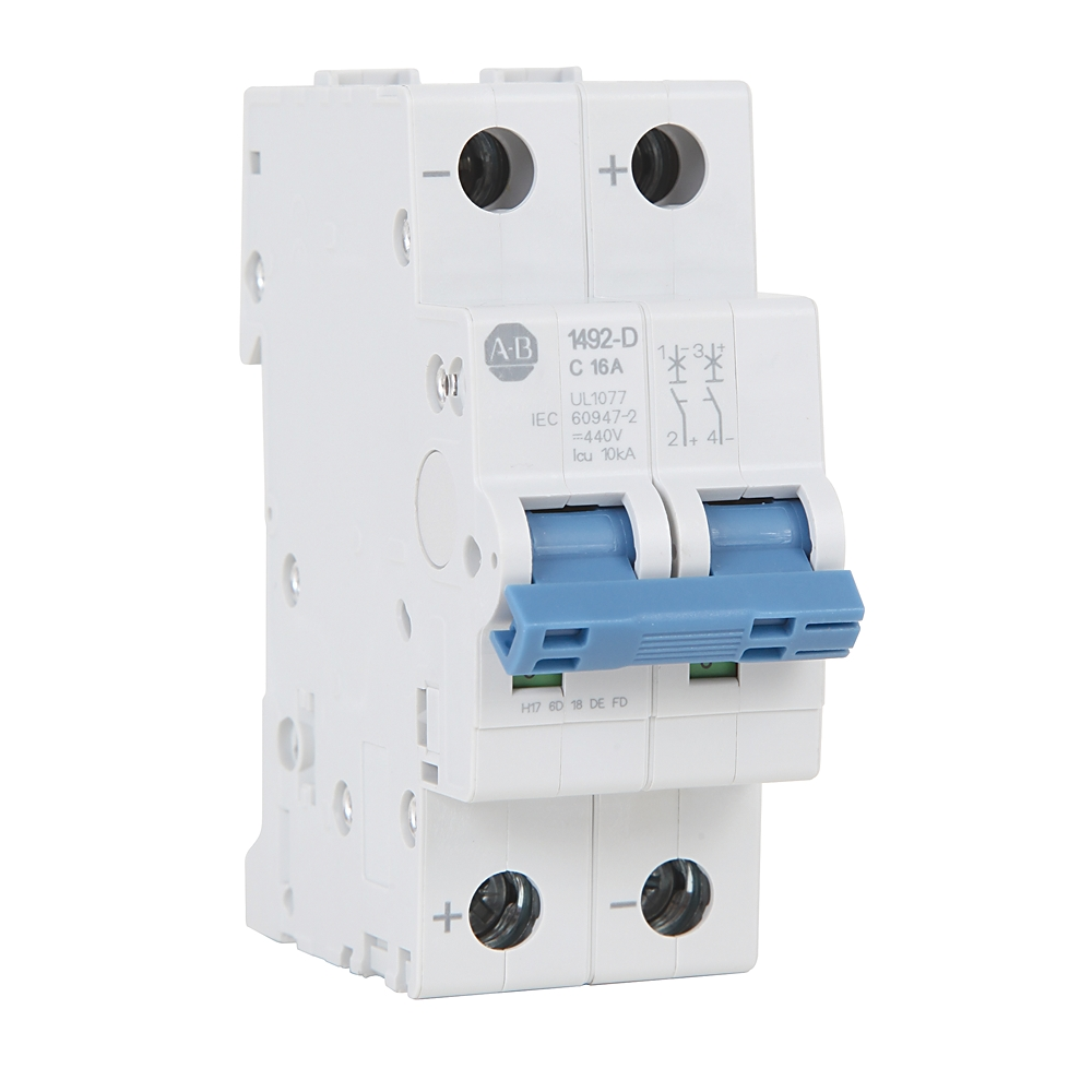 Distribution Equipment Circuit Breakers Enclosures And Accessories Electrical Machine Miniature Breaker Mcb 1492 D2c100 Ab Supplementary Protector 10 A 88717234422