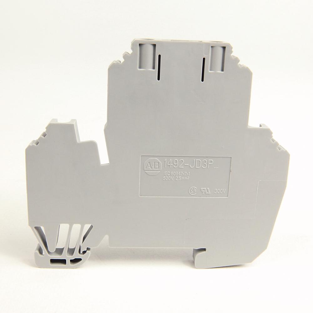 A-B 1492-JD3PTP IEC 2-Ckt Feed-Through Blk,Plug-In,2.5mm