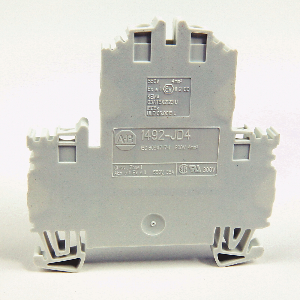 A-B 1492-JD4 4 square mm Double Level Terminal Block