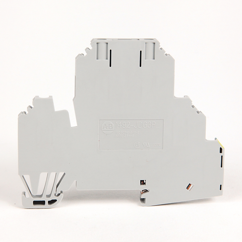 A-B 1492-JDG3PTP IEC 2Ckt Feed-Thru Grd Blk,Plug-In,2.5mm