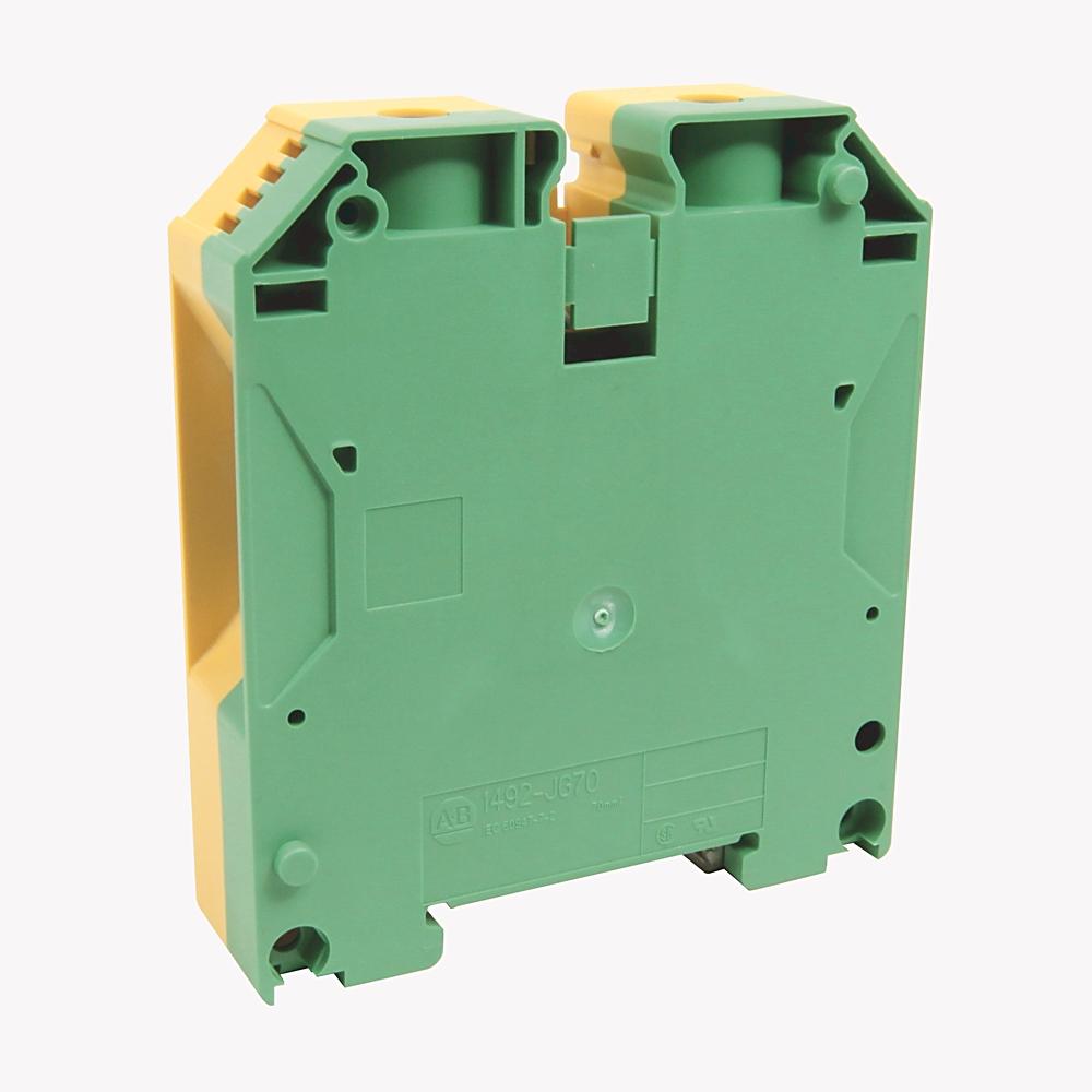A-B 1492-JG70 IEC 1-Ckt Feed-Through Grd Blk 70mm