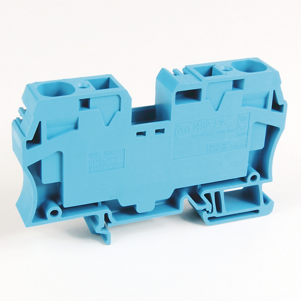 1492-L16 AB ONE-CIRCUIT FEED-THROUGH BLOCK, 16MM MAX. WIRE, G ...
