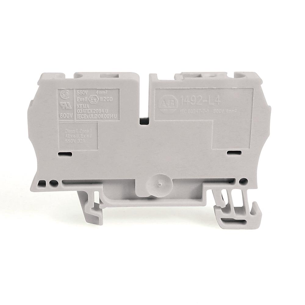 A-B 1492-L4-W IEC Term Block 6.1x62x35.7mm Spr Clp