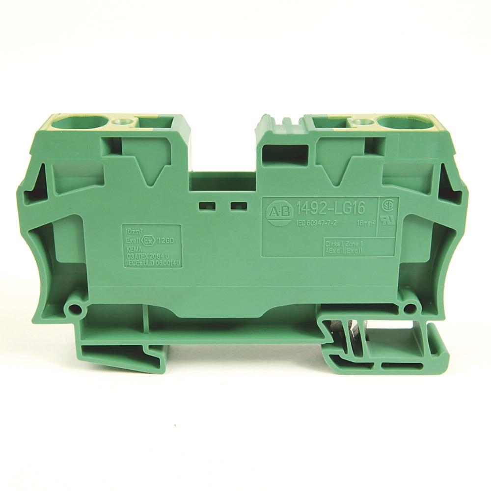 A-B 1492-LG16 IEC Term Block 12.1x82.5x43.5mm Spr Clp