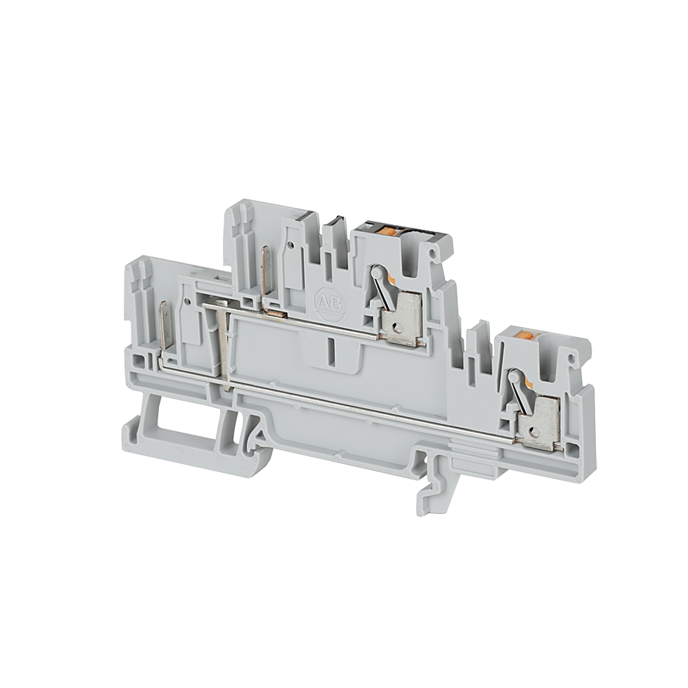 Rockwell Automation Revere Electric Bulletin 500f Nema Feedthrough Wiring Contactors For Motor Loads Allen Bradley 1492 Pd3 B Iec Feed Through Push In Terminal Block