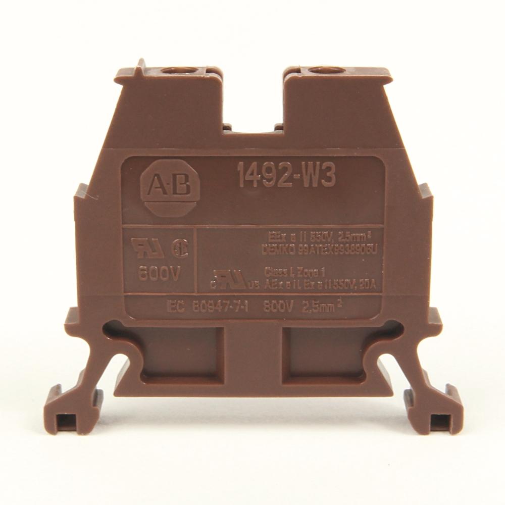 A-B 1492-W3-BL IEC Term Block 8x47.6x41mm Screw
