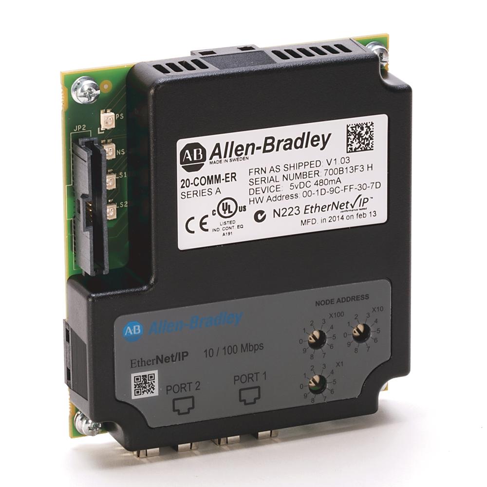 A-B 20-COMM-ER Dual-port EtherNet/IP Adapter