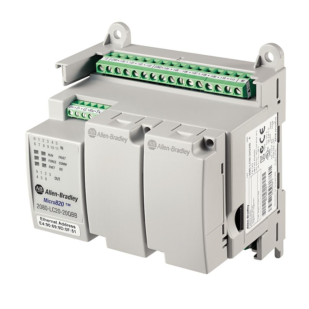 A-B 2080-LC20-20QWB Micro820 20 I/O ENet/IP Controller