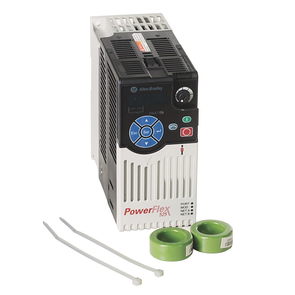 A-B 25B-A2P5N114 PowerFlex 525 0.4kW (0.5Hp) AC Drive
