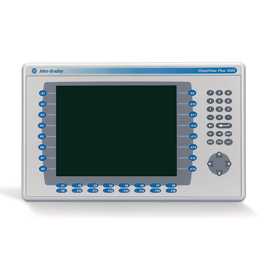2711P-B10C4D8 AB GRAPHIC TERMINAL PANELVIEW PLUS 6 1000 KEYPAD AND TOUCH COLOR DC ETHERNET RS232