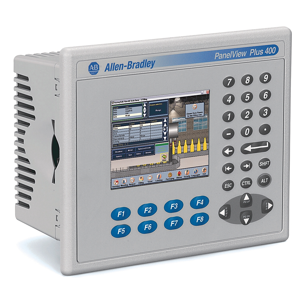 2711P-B4C20D8 AB GRAPHIC TERMINAL, PANELVIEW PLUS 6, 400, KEYPAD AND TOUCH, COLOR, DC, ETHERNET, RS232
