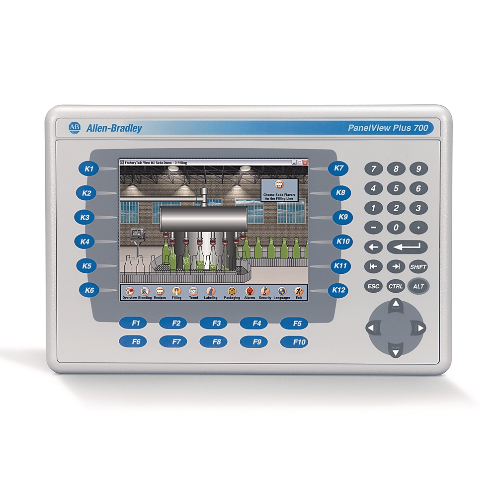 2711P-B7C4D8 AB GRAPHIC TERMINAL PANELVIEW PLUS 6 700 KEYPAD AND TOUCH COLOR DC ETHERNET RS232
