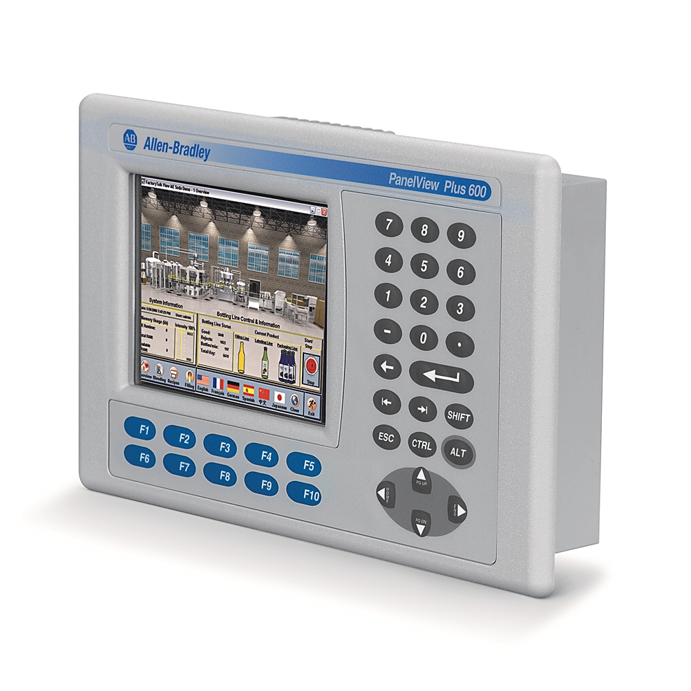 2711P-K6M20A8 AB GRAPHIC TERMINAL, PANELVIEW PLUS 6, 600, KEYPAD, GRAYSCALE, AC, ETHERNET, RS232