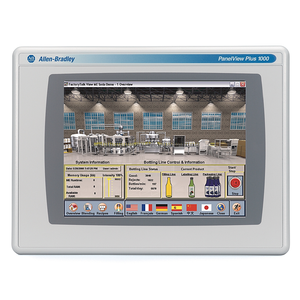 2711PC-T10C4D8 AB GRAPHIC TERMINAL COMPACT 10.4 IN TFT COLOR STANDARD ASPECT RATIO TOUCH SCREEN SINGLE ETHERNET AND RS232 18-30 V DC