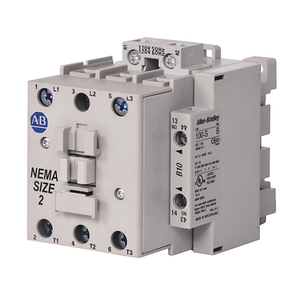 AB 300-COD930 300 NEMA Contactor,NEMA Size 2, Open, 120V 60Hz / 110V50Hz, Three Poles, 1 N.O. AuxiliaryContact