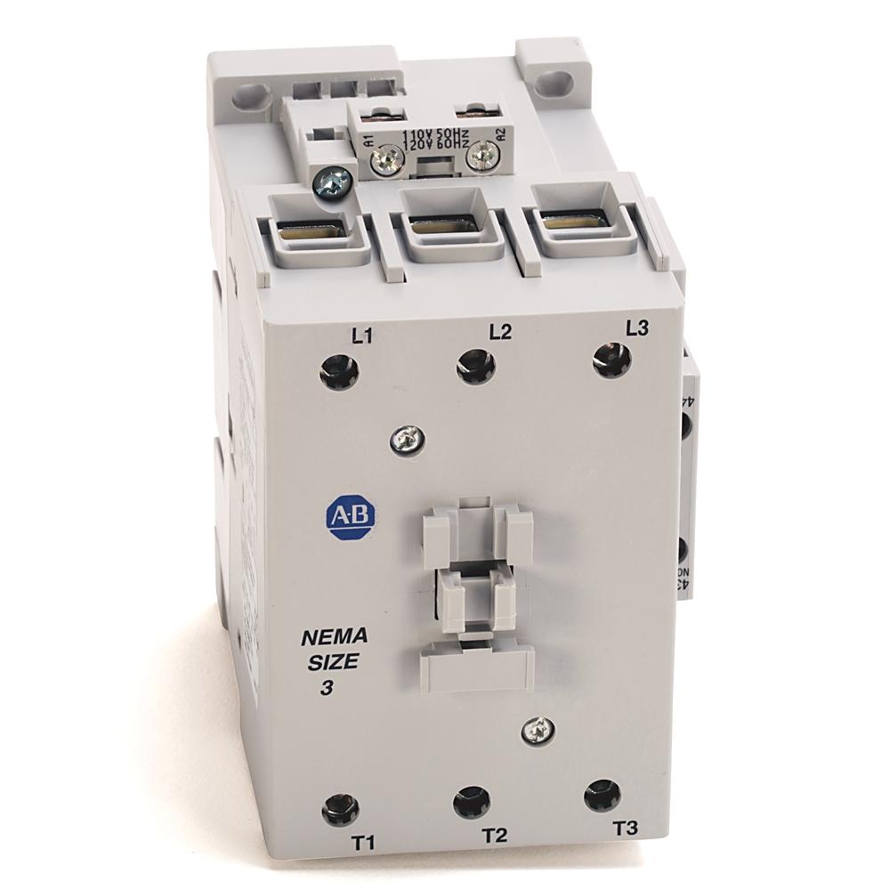 AB 300-DOD930 300 NEMA Contactor,NEMA Size 3, Open, 120V 60Hz / 110V50Hz, Three Poles, 1 N.O. - 1 N.C.Auxiliary Contact