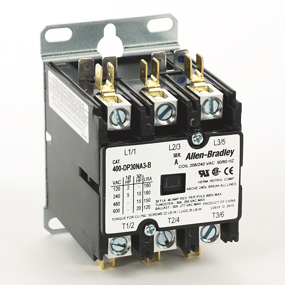 A-B 400-DP30NA3 30 Amp Definite Purpose Contactor