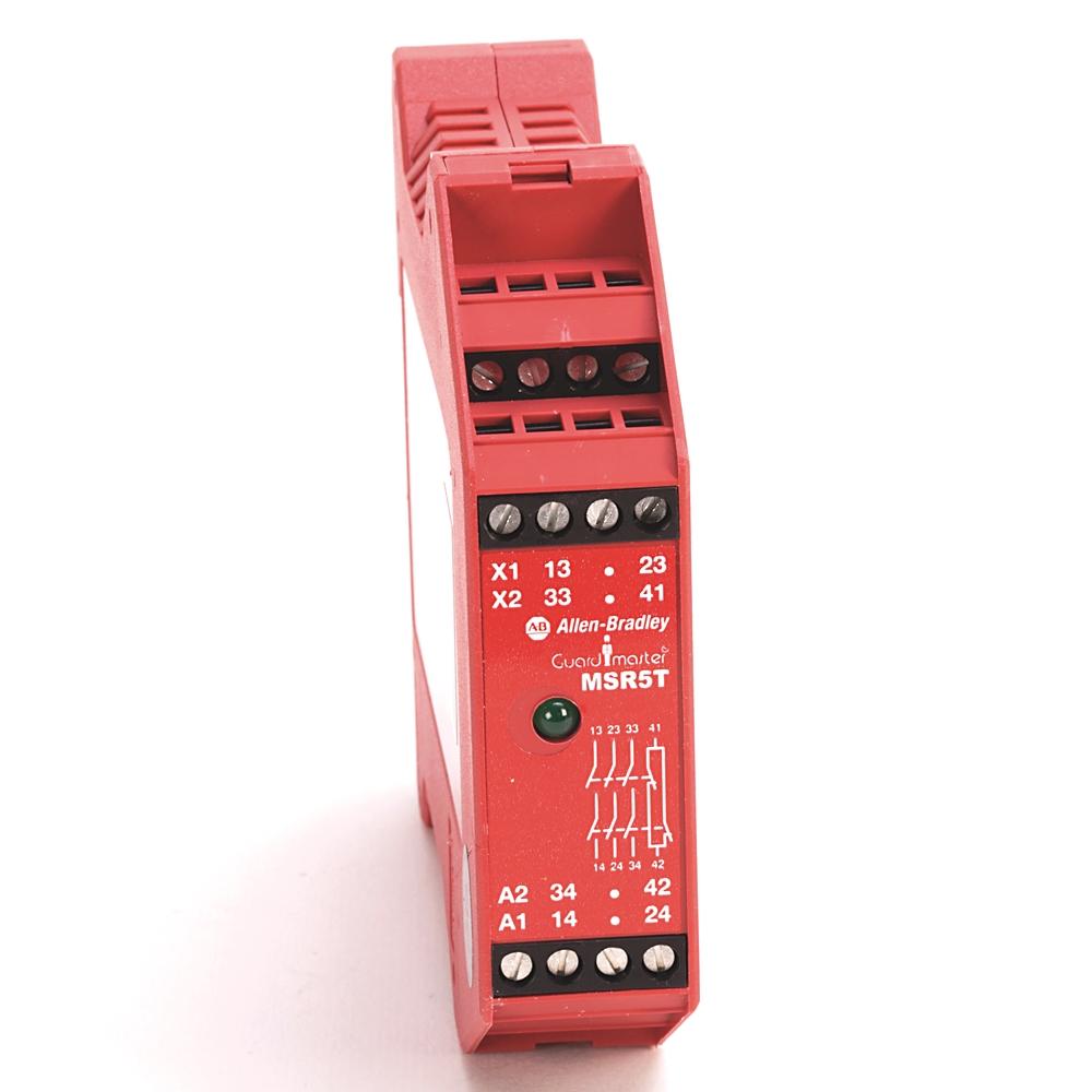 440R-B23020 AB MSR5T SAFETY RELAY 24VAC/DC 3NO+1NC