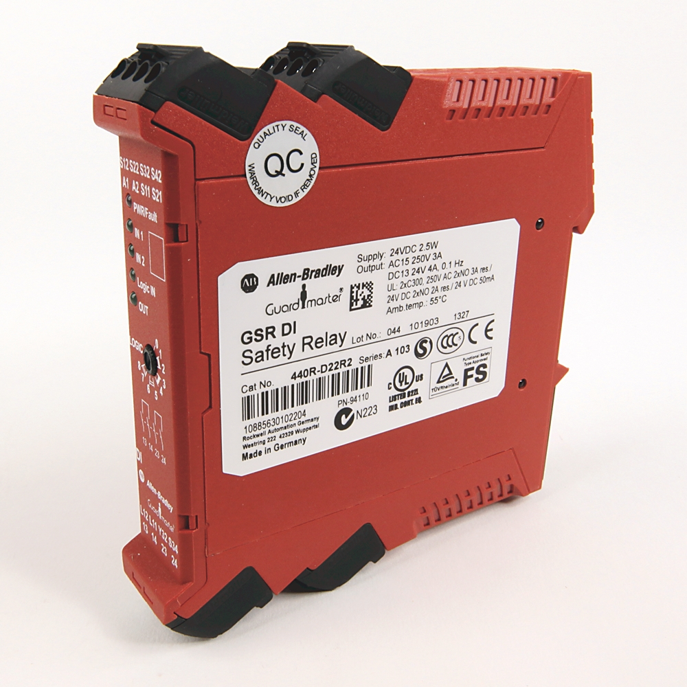 A-B 440R-D22R2 Guardmaster Dual Input Safety Relay