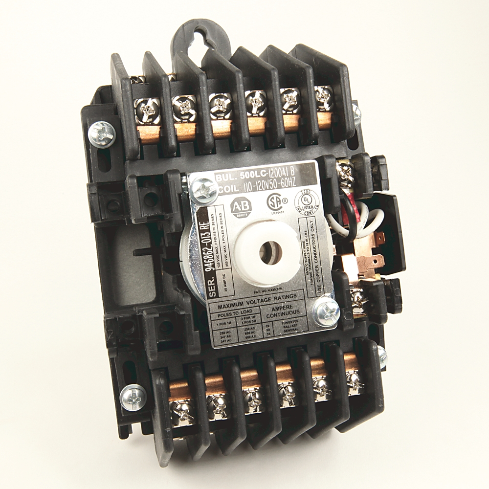 A-B 500LC-1200A1 AC Mechanically-Held Lighting Contactor