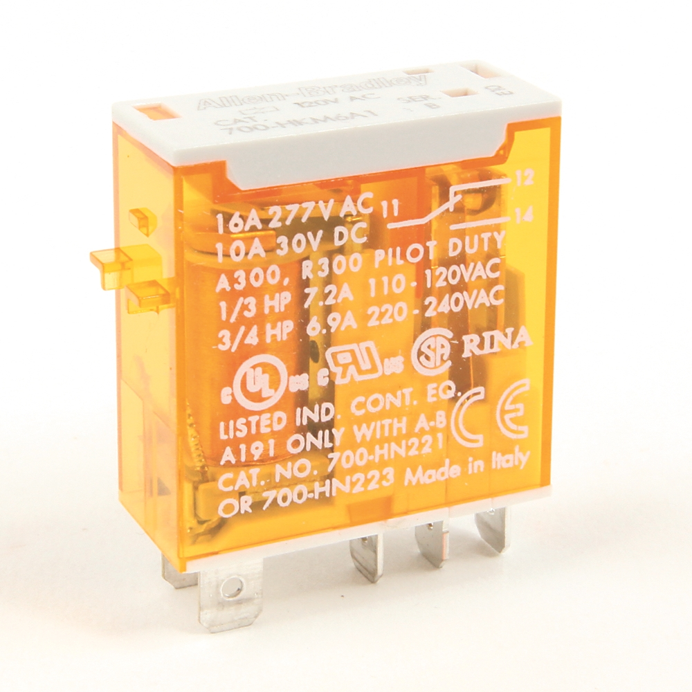 A-B 700-HKM6A1 SPDT Plug In 120 V Relay