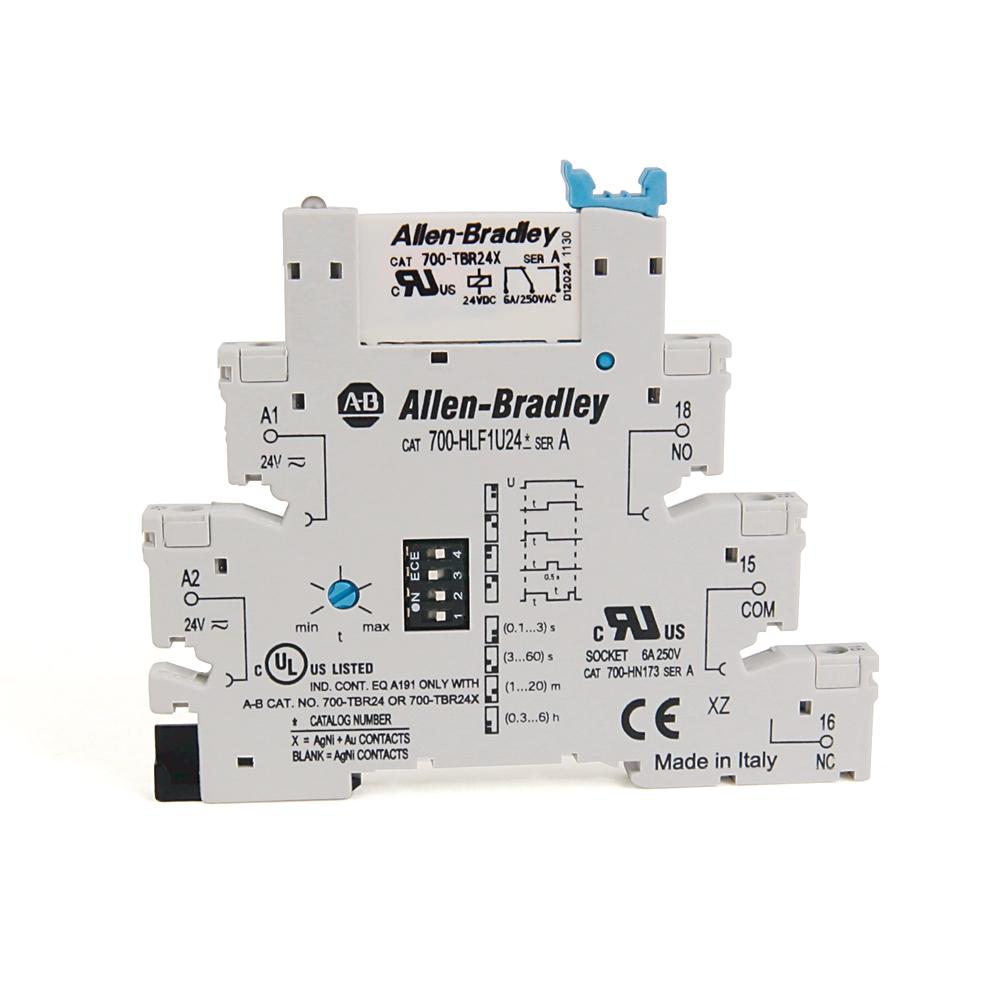 A-B 700-HLF1U24 24V AC/DC Terminal Block Timing Relay