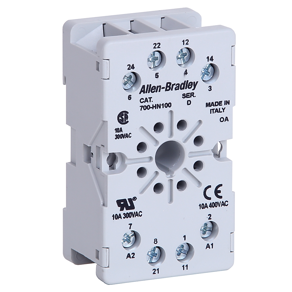 A-B 700-HN100 8 Pin Guarded Tube Based Relay Socket