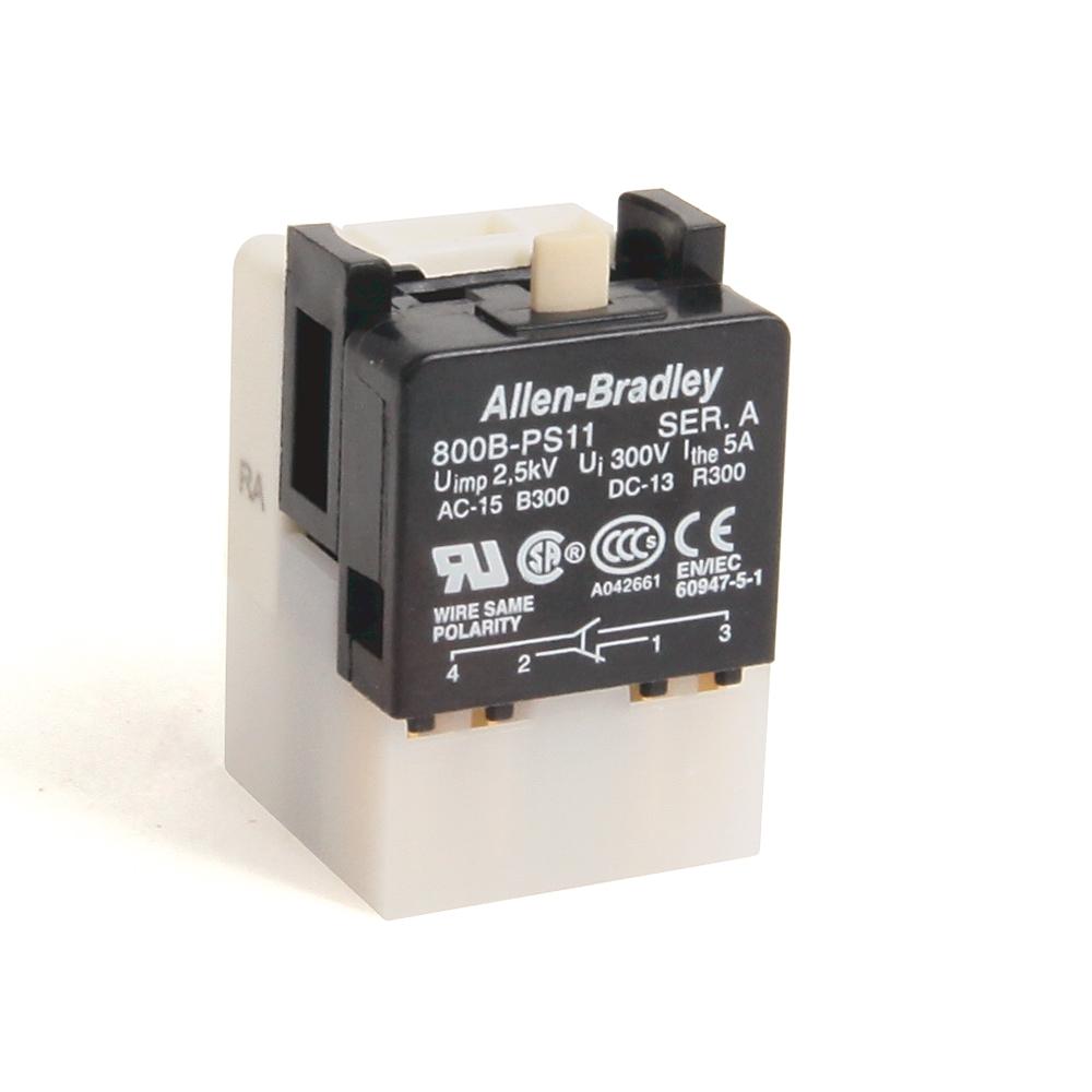 A-B 800B-PS11 800B 16 mm Push-Button Contact Block