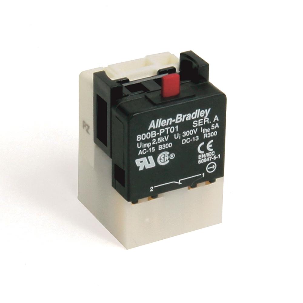 A-B 800B-PT01 800B 16 mm Push-Button Contact Block