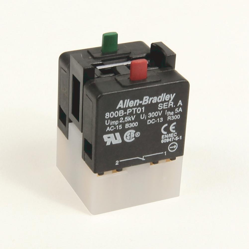 A-B 800B-PT11 800B 16 mm Push-Button Contact Block