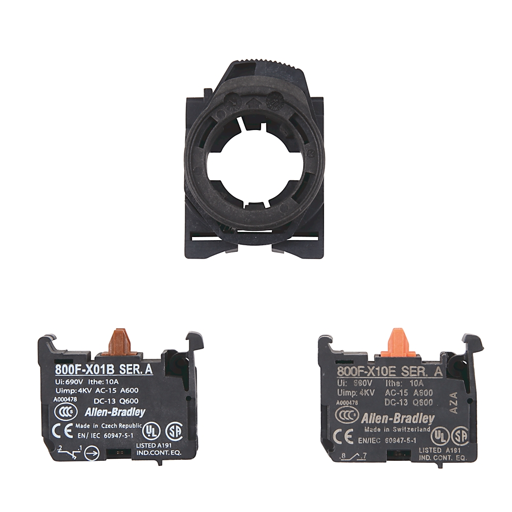 800F-PX11 AB MOUNTING BASE W/1 N.O. AND 1 N.C. CONTACTS