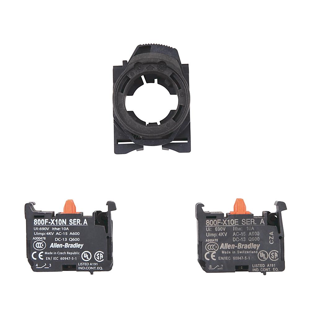 800F-PX20 AB 800F CONTACT BLOCK WITH PLASTIC LATCH, SCREW TERMI 66246811902