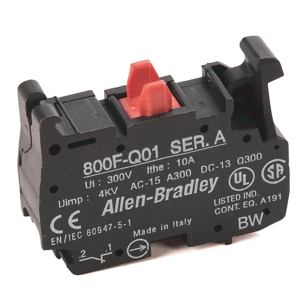 A-B 800F-Q01 22mm Contact Block 800F PB